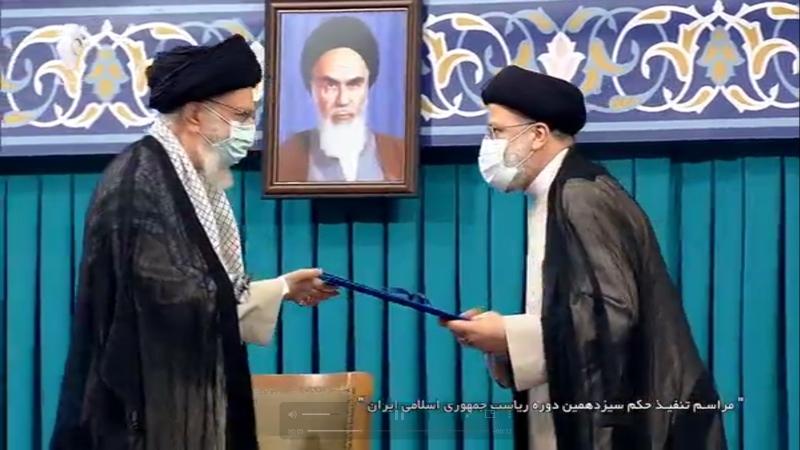 اعطای حکم تنفیذ سیزدهمین دوره ریاست جمهوری اسلامی ایران توسط رهبر انقلاب