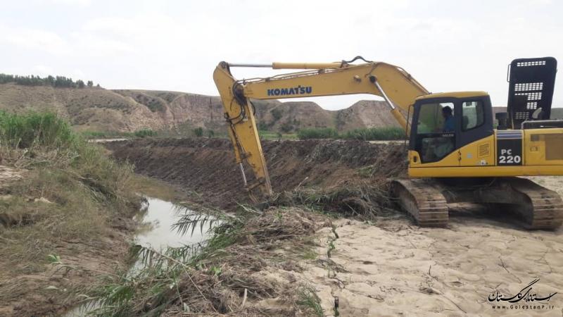 افتتاح و کلنگ زنی 3 پروژه  شرکت آب منطقه ای گلستان در شهرستان آق قلا