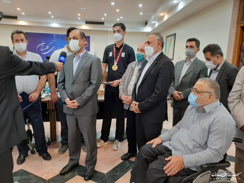 از قهرمانان استان حمایت لازم انجام می شود/امیدوارم شاهد ادامه موفقیت فرزندان گلستان در میادین ورزشی باشیم