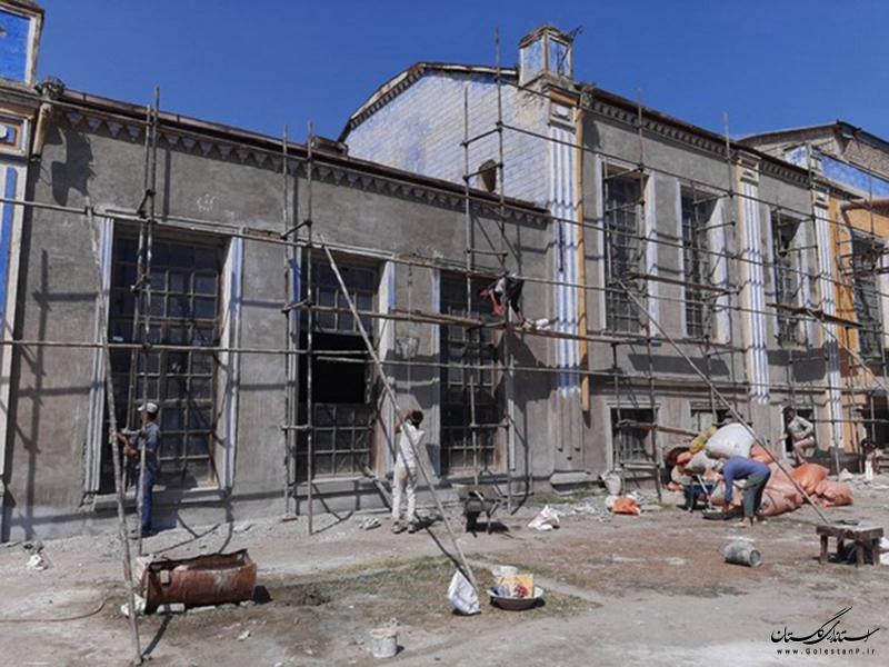 مشارکت در مرمت بنای تاریخی کارخانه پنبه لیوانی و بنای تاریخی لیوانی بندر گز