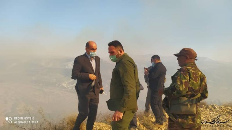 تلاش برای اطفا حریق در درازنو کردکوی ادامه دارد