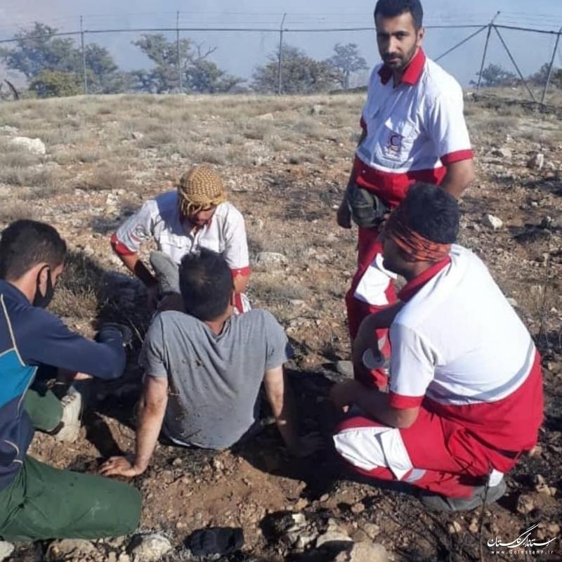 خبرنگاران در دل آتش کردکوی/ ۶ خبرنگار آسیبدیده نجات یافتند