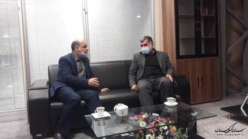 دیدار استاندار گلستان با رئیس بنیاد مسکن انقلاب اسلامی
